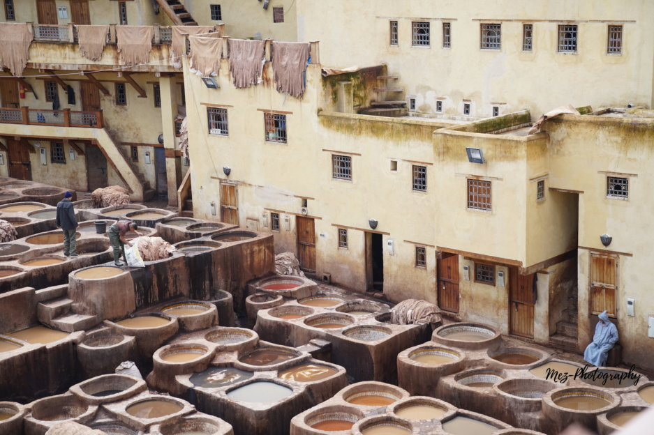 Chouara Tannery, oldest tannery, Fes, Morocco